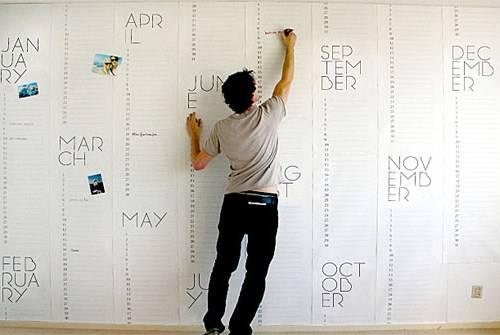 Обои-календарь от Christiaan Postma