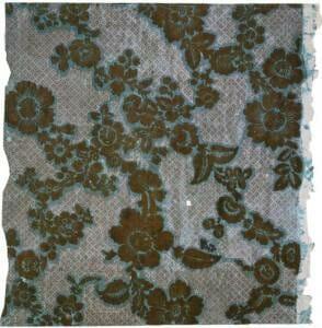 Старинные флоковые обои, 1760 г.
