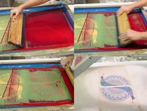 Нанесение рисунка методом шелкографии