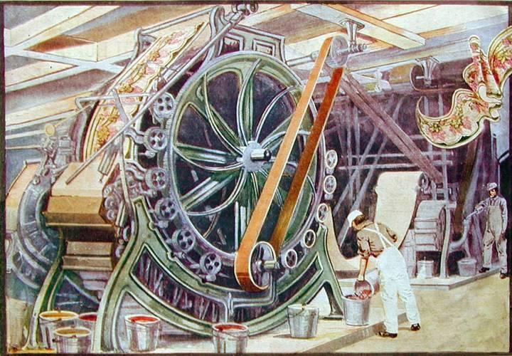 Изображение машины для поверхностной печати