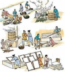 Приготовление бумаги по методу Цая Луня