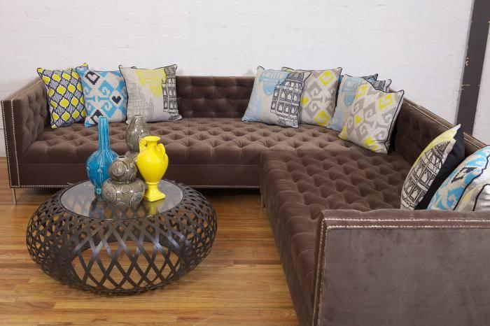 Глубокая мягкая мебель