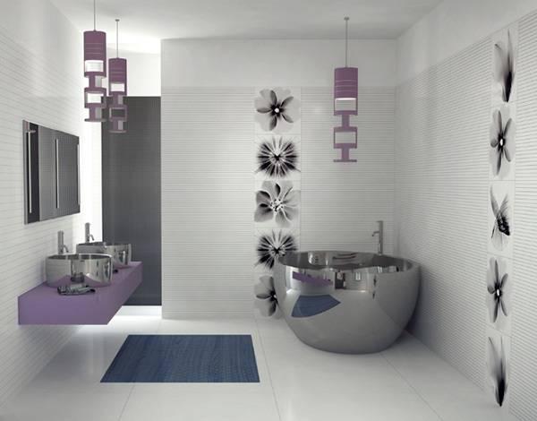 Дизайн ванной со скрытым туалетом