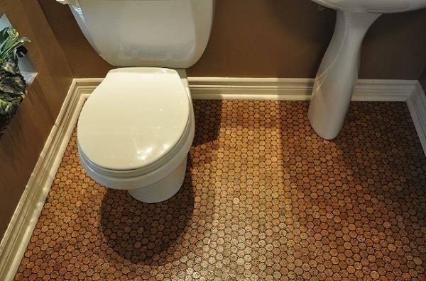 Дизайн ванной комнаты с пробковыми полами