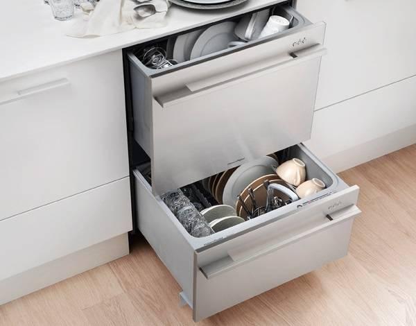 Посудомоечная машина с двумя ящиками