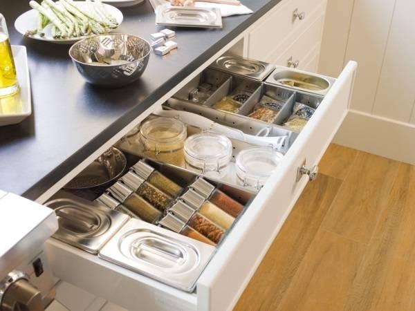 Ящик для специй на кухне