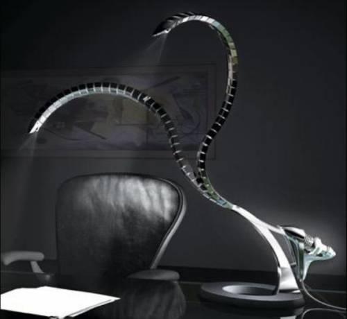 Настольная лампа с двумя источниками света