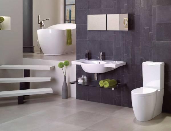 Дизайн ванной комнаты с красивым сочетанием цветов
