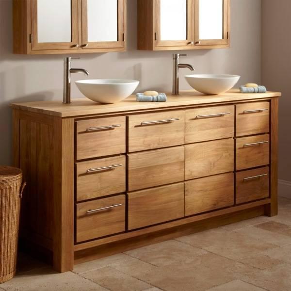 Мебель для ванны из натурального дерева
