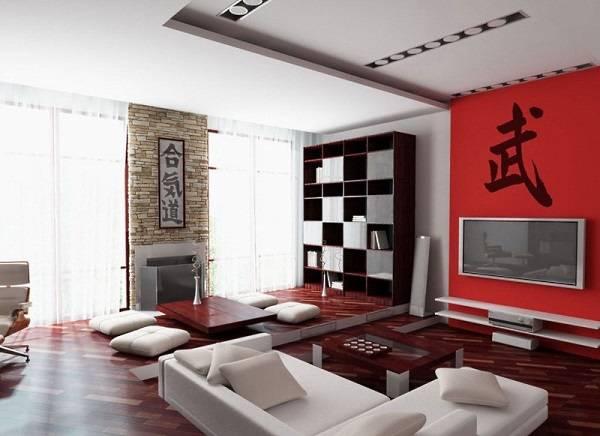 Современный стиль в интерьере в духе Азии