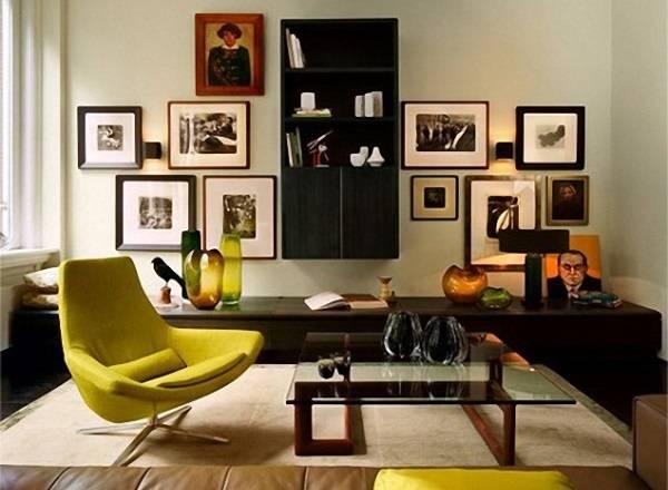 Дизайн интерьера - асимметричный баланс
