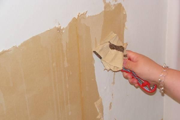 Снятие обоев со стен