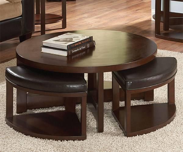 Журнальный столик с выдвижными стульями