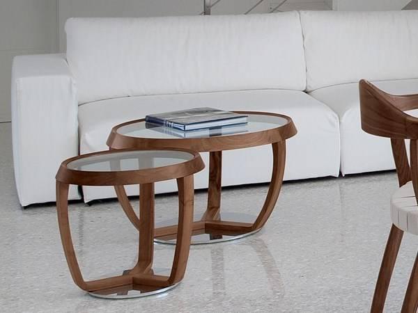 Журнальный столик из дерева и стекла Time от Tonon