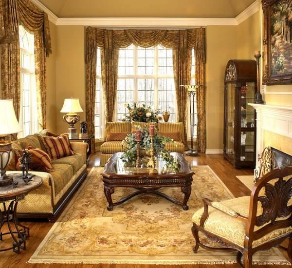 Классический стиль Старого света в интерьере гостиной