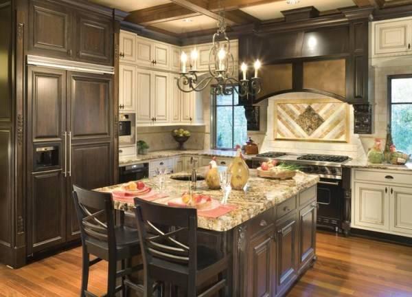 Классический стиль Старого света в интерьере кухни