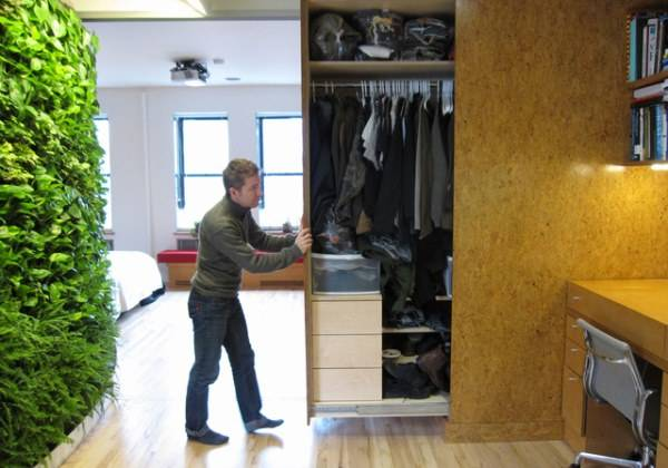 Скрытое хранилище для вещей в лофте