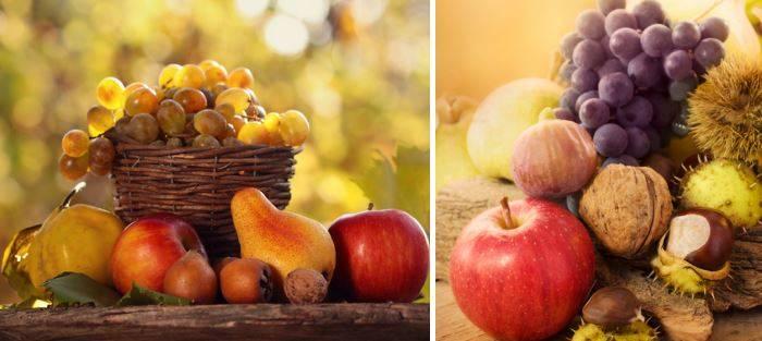 Украшение дома фруктами и другими дарами природы