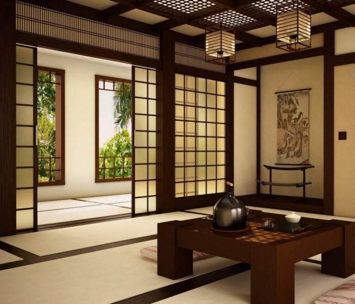 Планировка интерьера в японском стиле