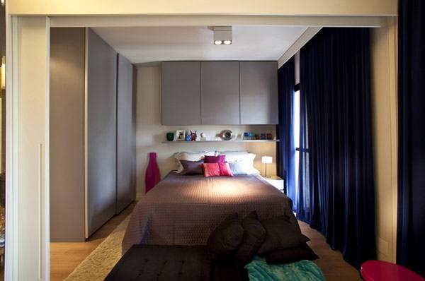 Спальня в маленькой квартире 45 кв. м.