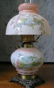 Керосиновая лампа для туалетного столика