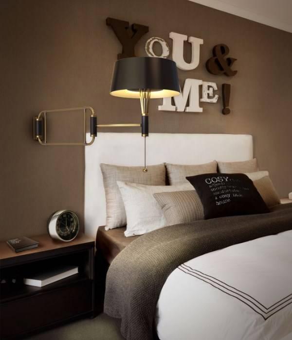 Идея настенного декора для спальни