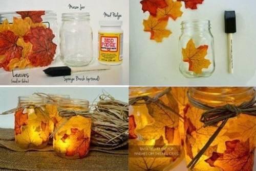 Как украсить дом с осенними листьями