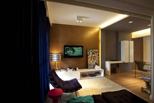 Дизайн маленькой квартиры 45 кв. м. (общий вид)