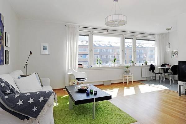 Дизайн квартиры 44 кв. м. в скандинавском стиле