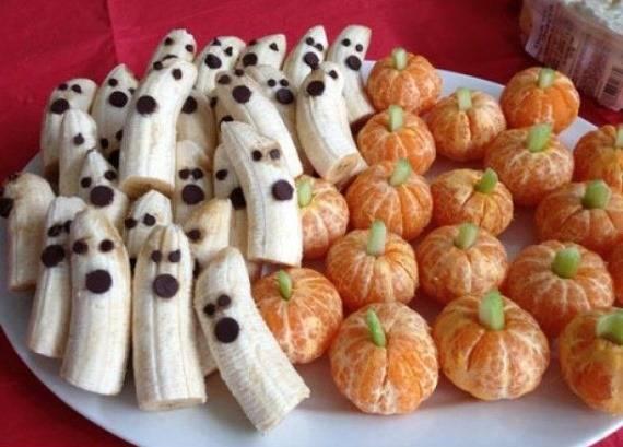 Праздничные фрукты на Хэллоуин