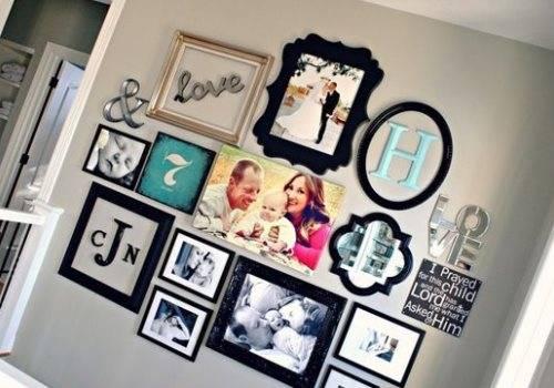 Яркое оформление стен с фотографиями
