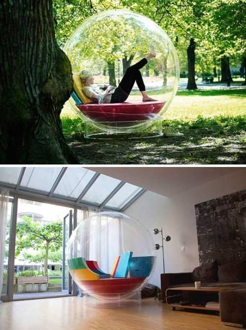 Стильное кресло в виде пузыря