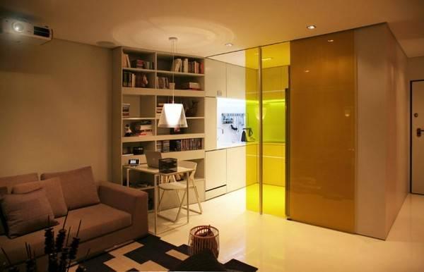 Маленькая квартира в стиле Hi-Tech