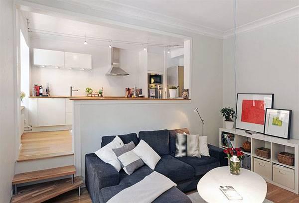 Кухня в небольшой квартире-студии