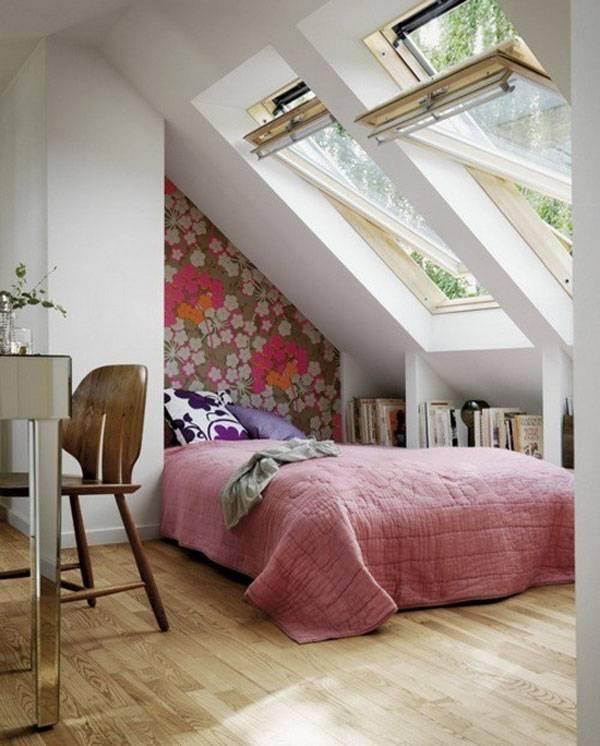 Маленькая спальня в пентхаусе
