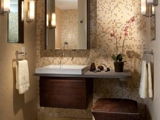 Дизайн ванной комнаты с навесной раковиной
