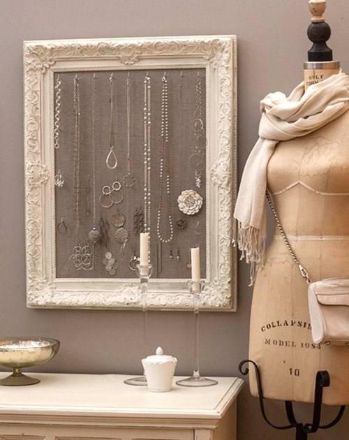 Идеи декора - вешалка для ювелирных изделий