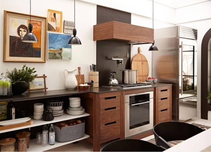 Скандинавская кухня в современном стиле