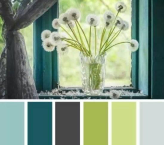 Цветовая палитра для оформления гостиной