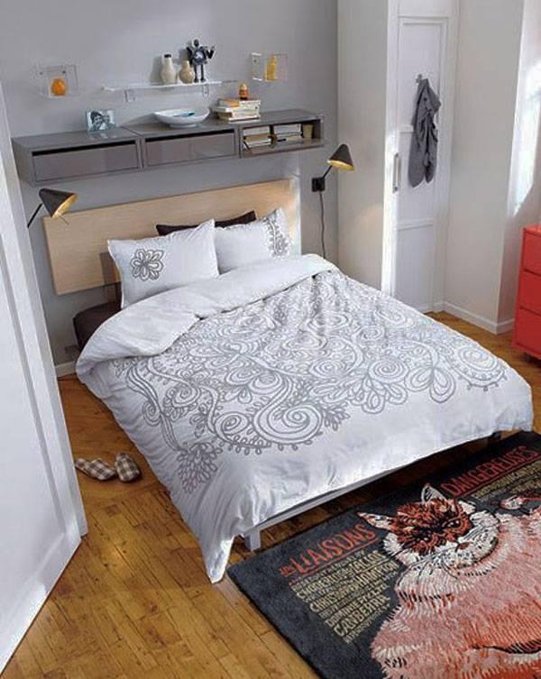 Оригинальный и простой дизайн спальни