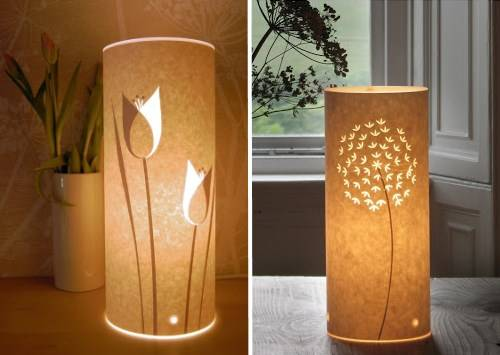 Самодельный светильник из бумаги