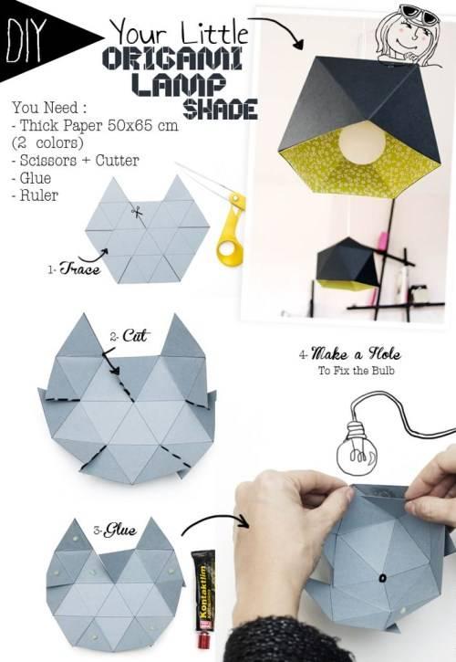 Абажур для лампы в виде оригами