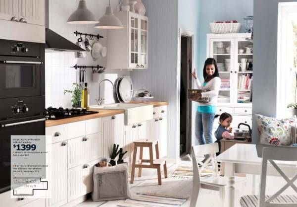 Белая кухня Ikea 2015