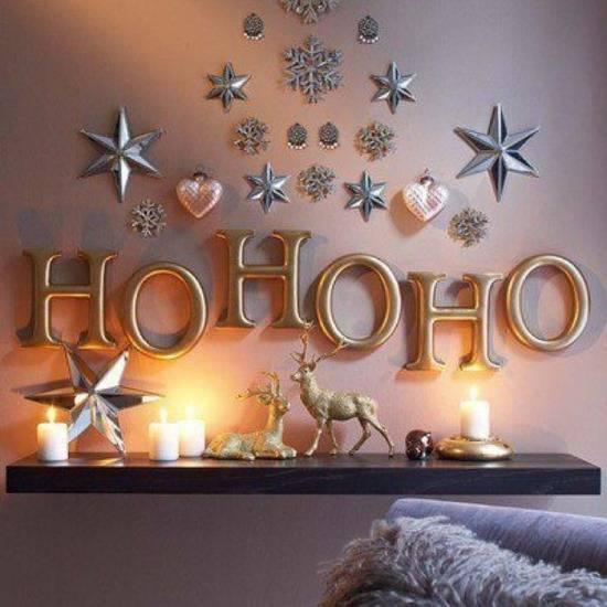 Гламурный новогодний декор