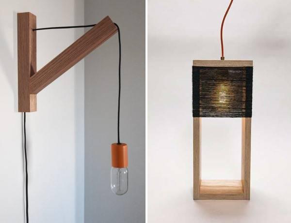 Стильные деревянные светильники