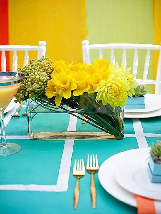 Прямоугольная ваза для цветов