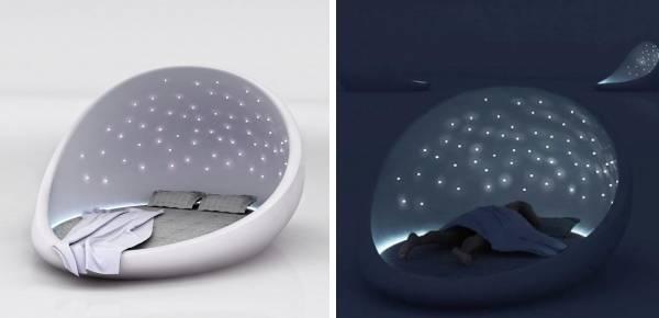 Кровать со звездным небом