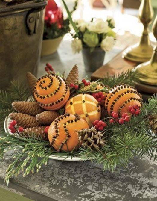 Декор из фруктов на Новый Год