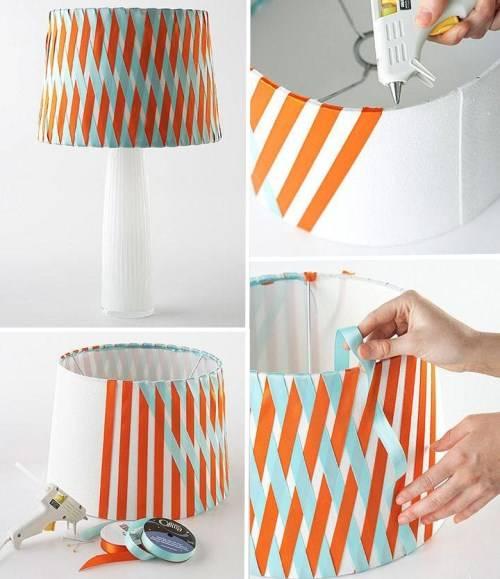 Отделка светильника лентами