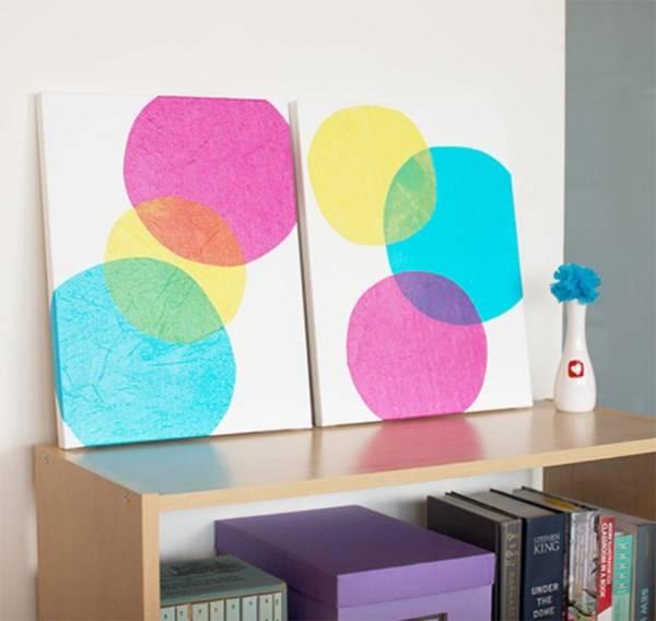 Бумажный декор для стен своими руками